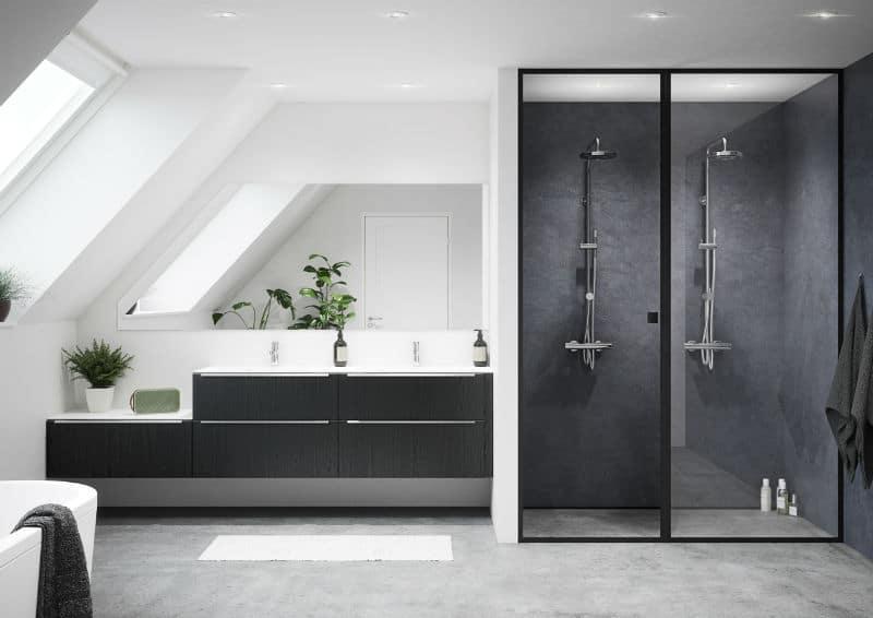 Tirano sort badeværelse