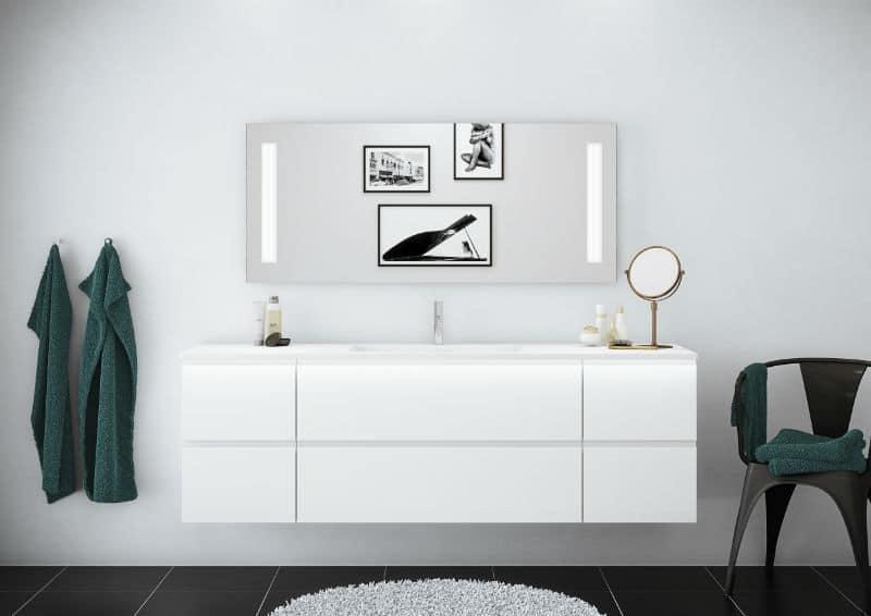 Venezia hvid badeværelse
